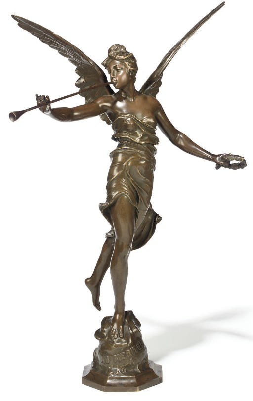 A FRENCH BRONZE FIGURE OF WING