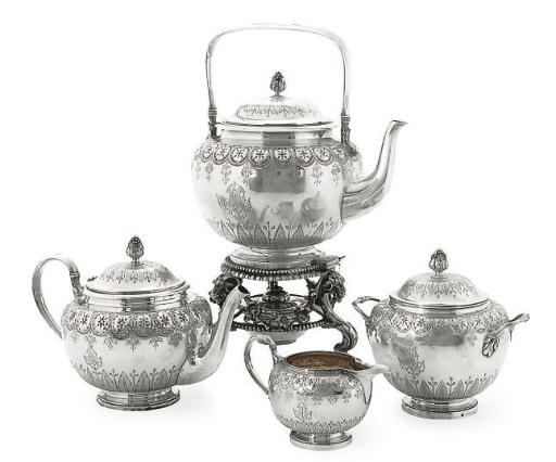 A 19TH CENTURY FRENCH SILVER 3