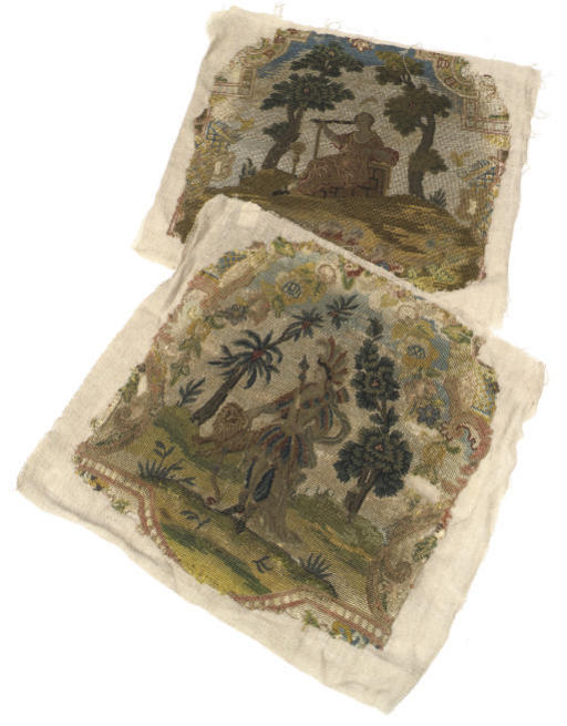TWO EARLY 18TH CENTURY EMBROID