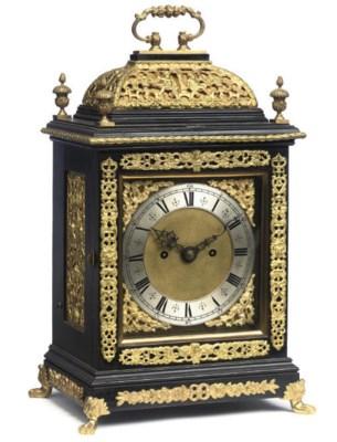 A Victorian brass-mounted ebon