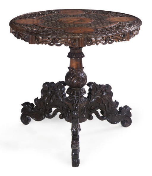 A COLONIAL HARDWOOD OCCASIONAL