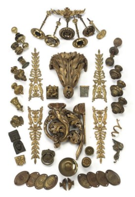 A LARGE COLLECTION OF ORMOLU A