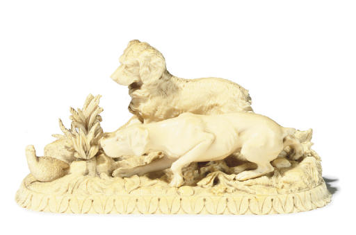 A FRENCH IVORY GROUP ENTITLED