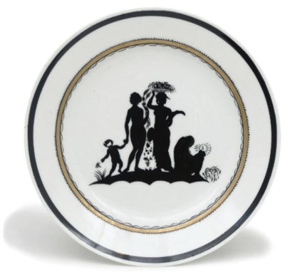 A SOVIET PORCELAIN PLATE FROM