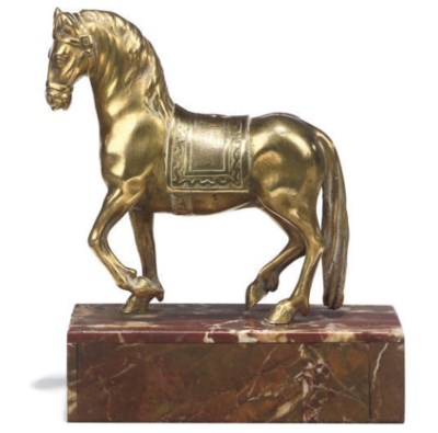 A CONTINENTAL GILT-BRONZE MODE