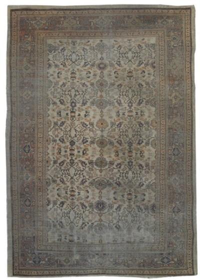 An antique Mahal carpet