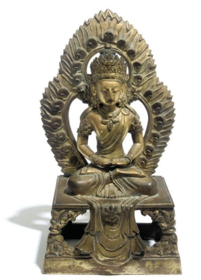 A Chinese gilt bronze model of