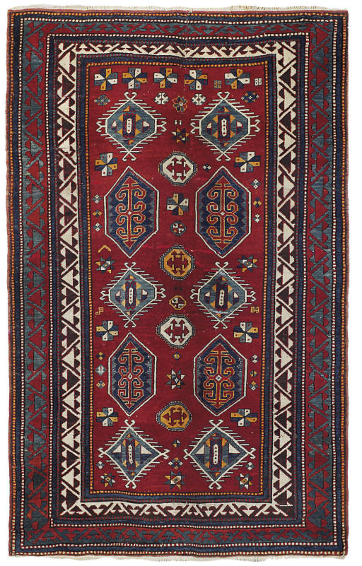 An unusual Bordjalu Kazak rug