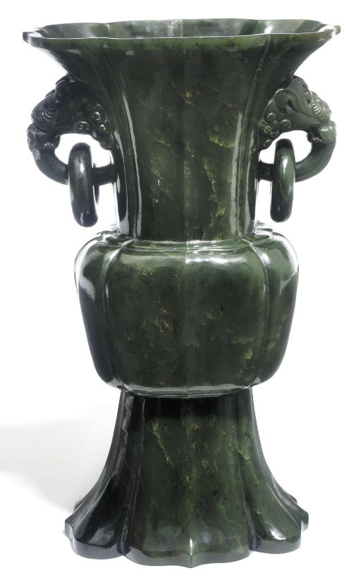 A Chinese spinach green jade v