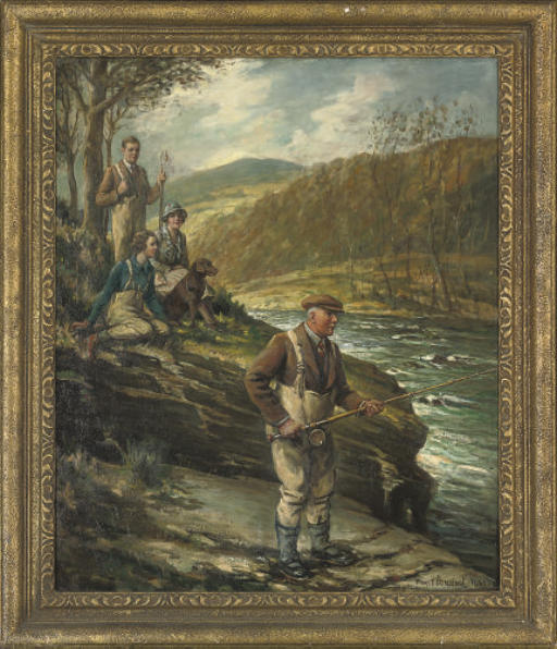 Fishing on the Russ-on-Wye