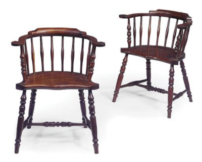 A PAIR OF ENGLISH MAHOGANY LOW