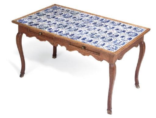 A DUTCH OAK TABLE