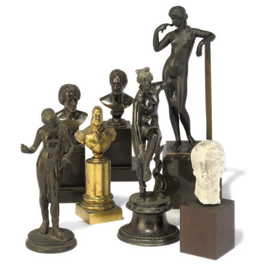 A GROUP OF SEVEN BRONZE 'GRAND