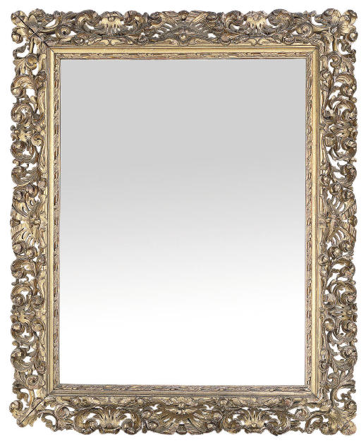 A ITALIAN GILTWOOD PICTURE FRAME MIRROR