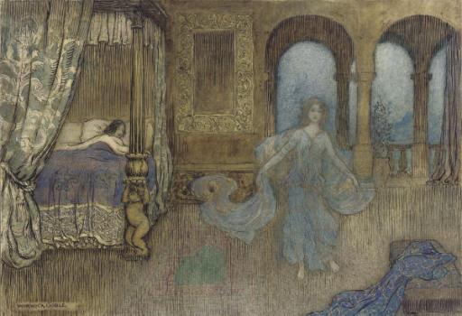 An apparition in blue