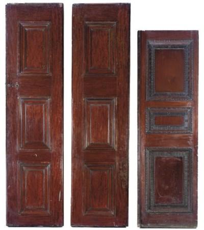 THREE VICTORIAN MAHOGANY DOORS