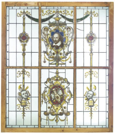 A VICTORIAN STAINED AND LEADED