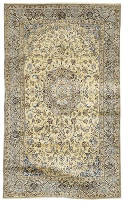 A fine part silk Nain carpet