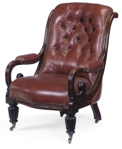 A WILLIAM IV MAHOGANY BUTTONDO