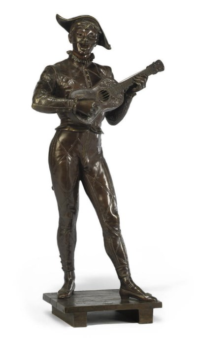 A FRENCH BRONZE FIGURE OF A CO