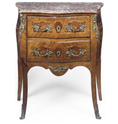 A MARQUETRY COMMODE
