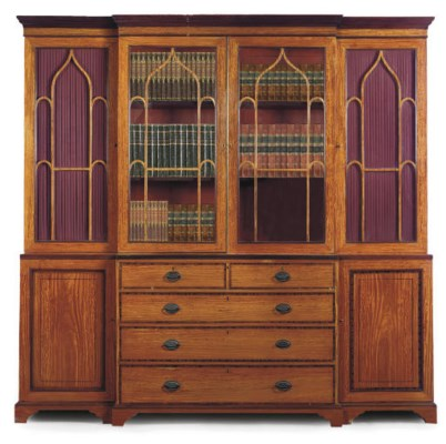 AN EDWARDIAN SATINWOOD AND ROS