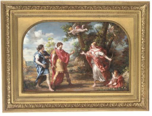 Venus disguised as a huntress appearing to Aeneas and Achates