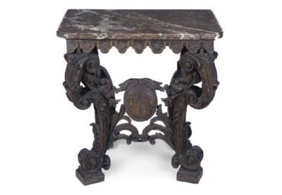 A DUTCH OAK SIDE TABLE