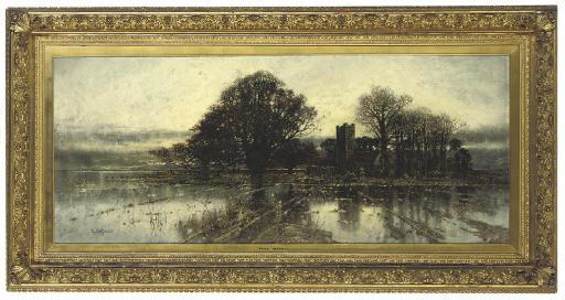 A flooded Norfolk landscape