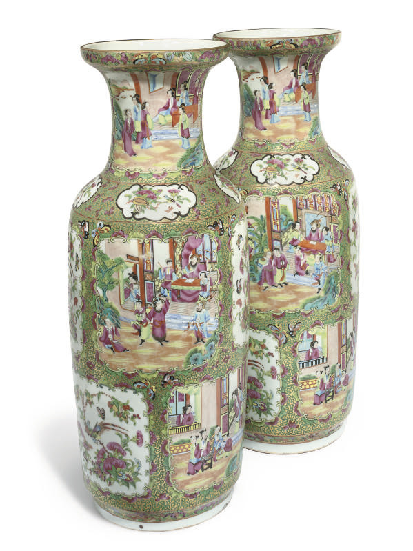 A pair of cantonese baluster v