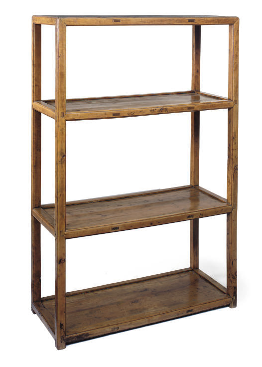 A CHINESE HARDWOOD FOUR TIER W