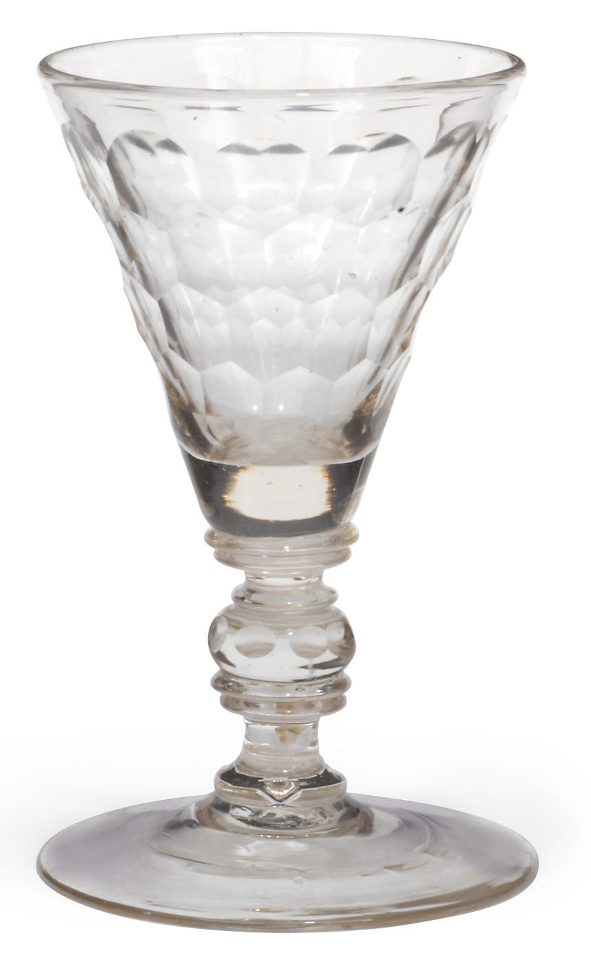 A GERMAN OR BOHEMIAN CUT GLASS
