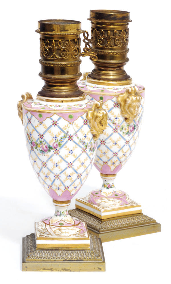 A PAIR OF FRENCH SEVRES-PATTER