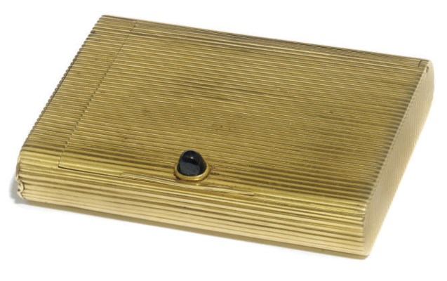 A CONTINENTAL GOLD REEDED CIGA