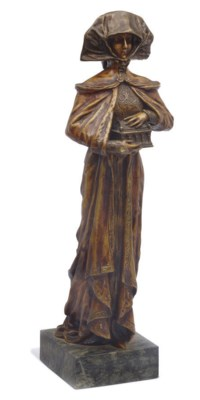 A FRENCH BRONZE FIGURE OF PAND