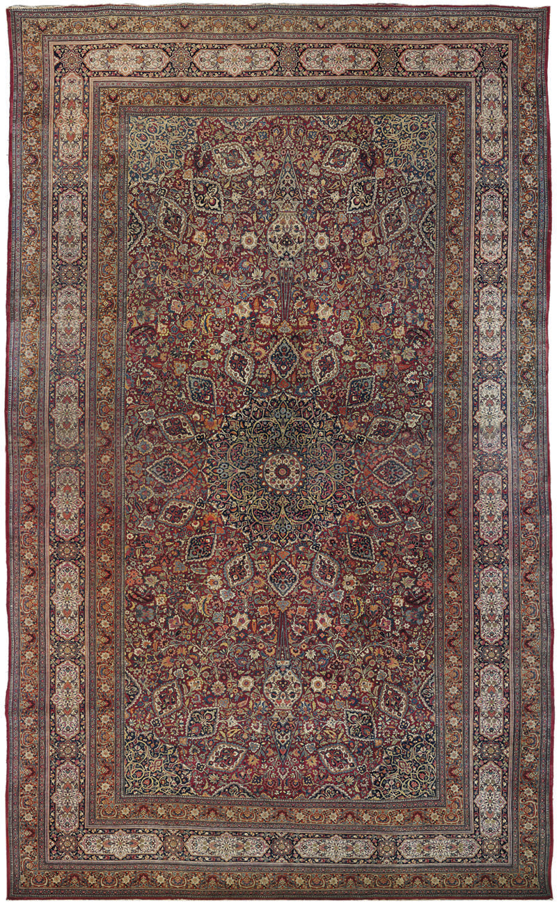 A fine antique large Meshed ca