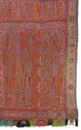 A JAMAWAR LONG SHAWL, MID 19TH