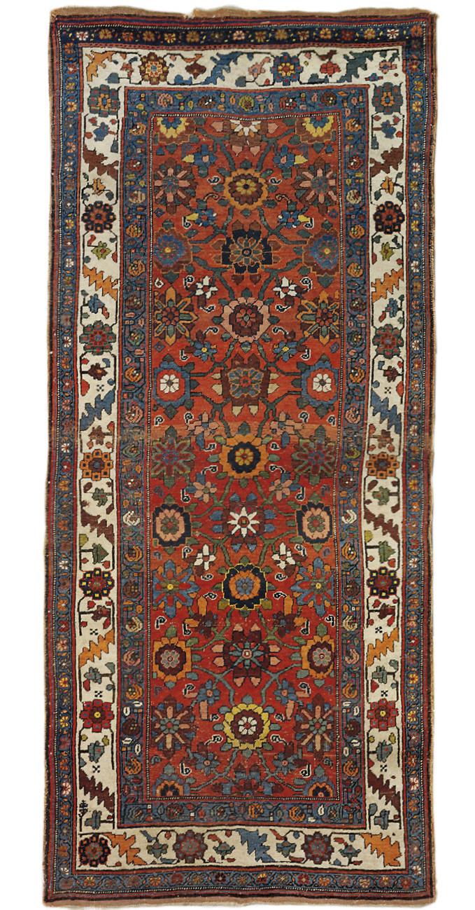 An antique Bijar large rug