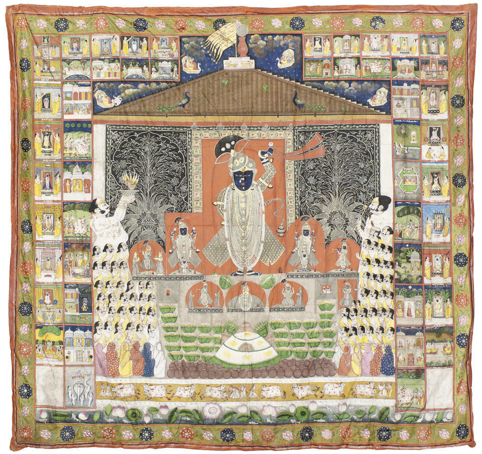 A PAITCHVAI PAINTED HANGING, R