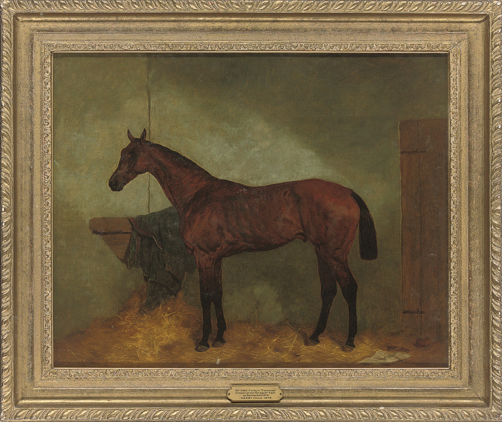 Sir John Astley's 'Fortitude', winner of the 'All Aged' race at Newmarket, 1879