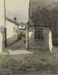 White cottages (illustrated); and Cottages through the archway