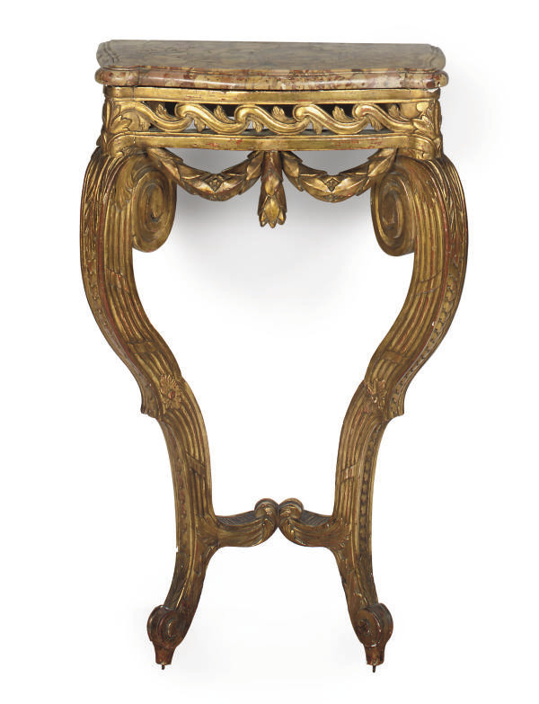 A  FRENCH GILTWOOD AND GESSO C