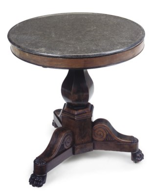 A LOUIS PHILIPPE MAHOGANY GUER
