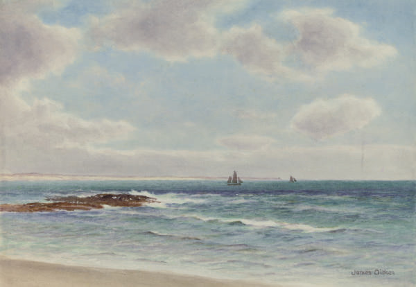 Off the Mary coast (illustrated); and Clawsey Beach, Port St, Mary, Isle of Man