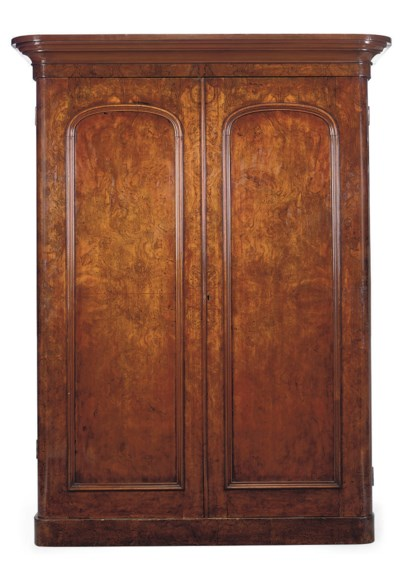 A VICTORIAN FIGURED WALNUT TWO
