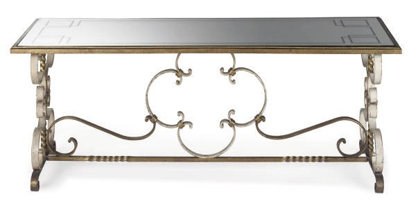 A FRENCH PAINTED WROUGHT IRON