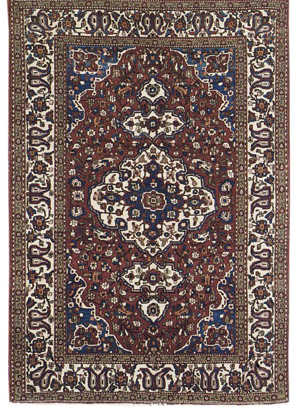 A fine unusual West Persian ru