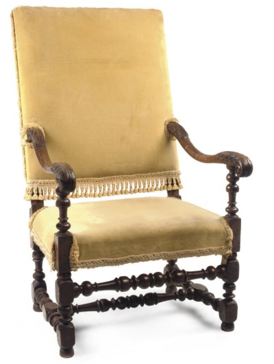 A VICTORIAN CARVED AND TURNED