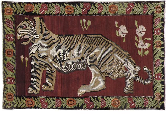 An unusual Karabagh rug