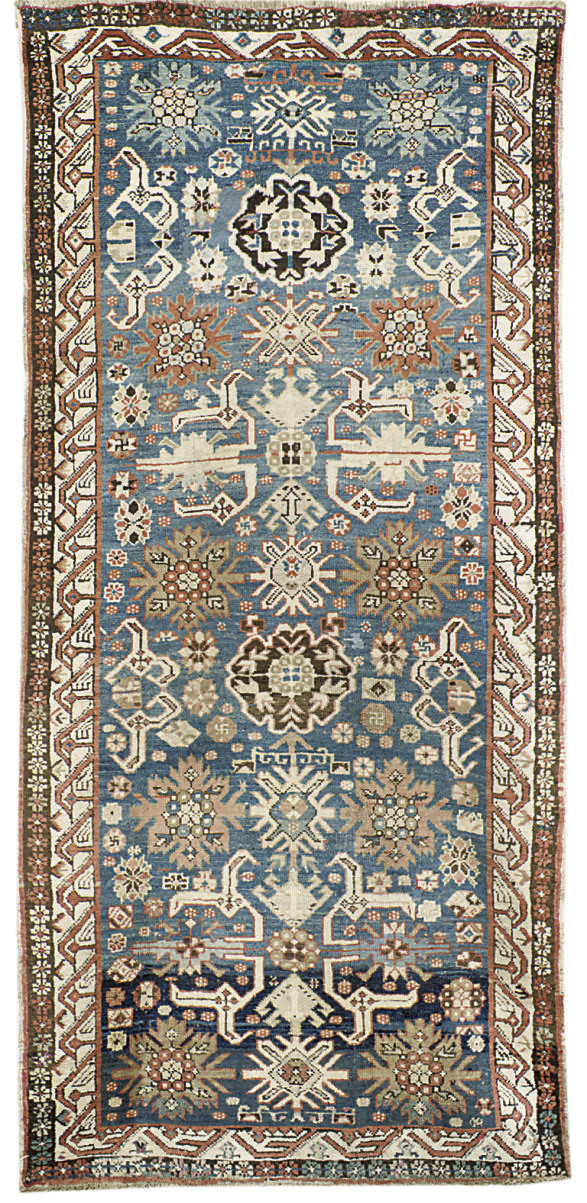 An antique Kuba rug